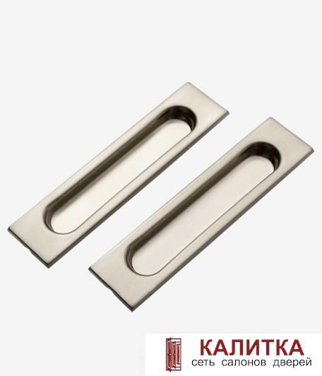 Комплект ручек прямоугольные для раздвижных дверей (2 шт) TIXX SDH 601 SN матовый никель