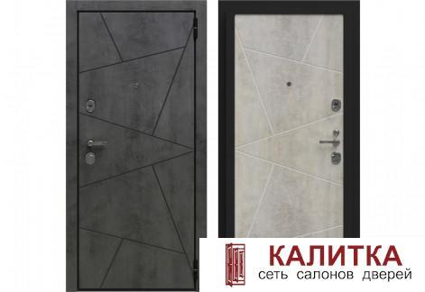 Лофт Камень Темно-Серый / Камень Светло-Серый  870х2050 левая