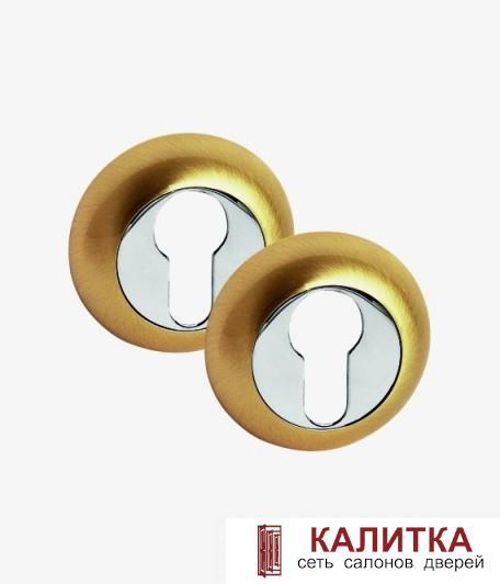 Накладка под цилиндр PALIDORE на круглом основании CL SB матовые золото