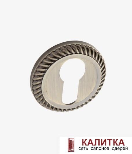 Накладка под цилиндр  на круглом основании РЕЗНАЯ ET AL 17 AB античная бронза