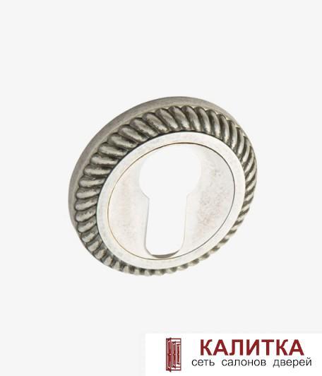 Накладка под цилиндр  на круглом основании РЕЗНАЯ ET AL 17 SL состаренное серебро