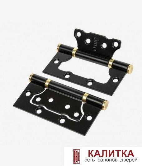 Петля накладная RENZ 100-2BB FH 100*75*2.5 B/PB  черный/золото