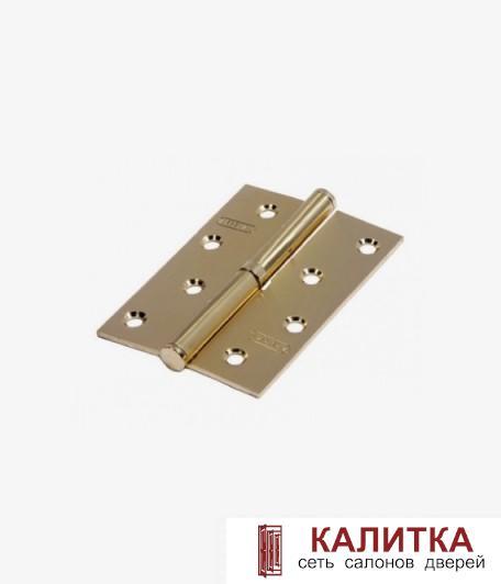 Петля разъемная ARSENAL 100*70*2,5 SB L матовое золото ЛЕВАЯ