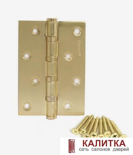 Петля универсальная  100*70*2.5 -В4 GМ (4 подшипника) матовое золото