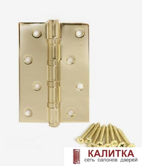 Петля универсальная  120*80*2,5-В4 G (4 подшипника) блестящее золото