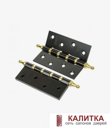 Петля универсальная RENZ (100*75*2.5) 100-4BB CH B/PВ черный/золото (с коронкой)