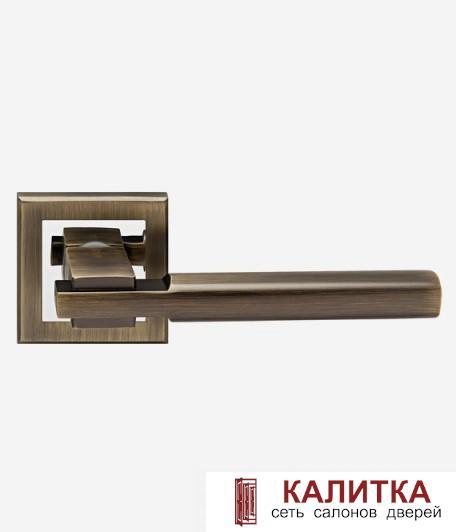 Ручка дверная  на квадратном основании H-18038 BRISA MB матовая бронза TD185221