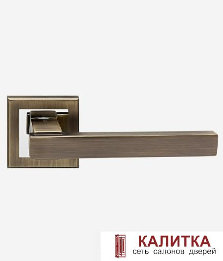 Ручка дверная  на квадратном основании H-18100 SIROCCO MB матовая бронза TD185227