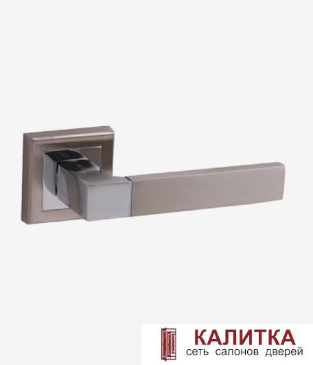 Ручка дверная  на квадратном основании H-18101 OROSHI NIS/CR мат. никель/хром TD185201