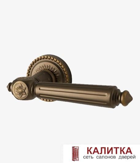 Ручка дверная ARMADILLO на круглом основании MATADOR CL4 BB-17 коричневая бронза