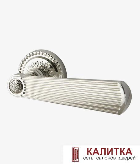 Ручка дверная ARMADILLO на круглом основании ROMEO CL3-SILVER-925 серебро