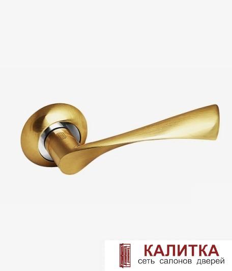 Ручка дверная PALIDORE на круглом основании X11 SB матовое золото TD185801