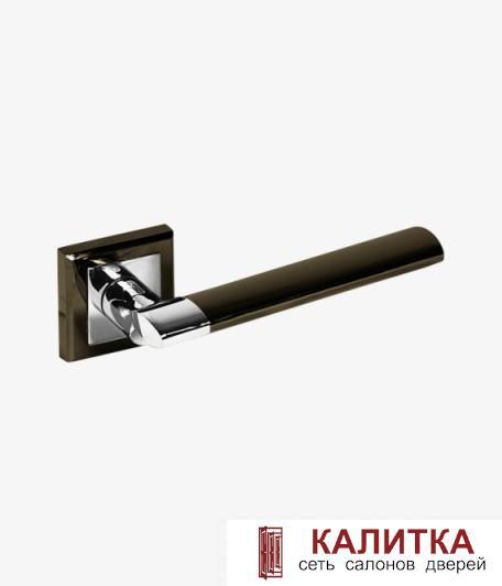 Ручка дверная PALIDORE на квадратном основании 219 BH/PC графит/хром TD185220