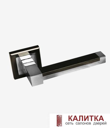 Ручка дверная PALIDORE на квадратном основании 289 BH/PC графит (блест)/хром TD185224
