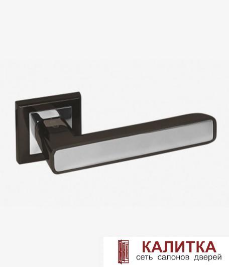 Ручка дверная PALIDORE на квадратном основании A-235 BH/PC графит (блест)./хром TD185235A