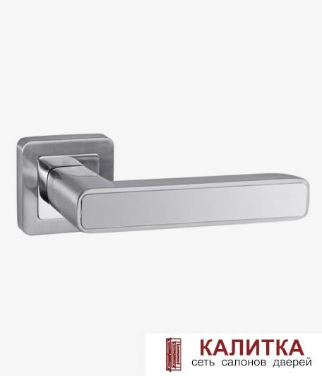 Ручка дверная PALIDORE на квадратном основании A-235 НH/PC белый никель TD185235A
