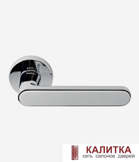 Ручка дверная Pallini на круглом основании Лион PAL-Z09 PC/White полированный хром/белый TD185874