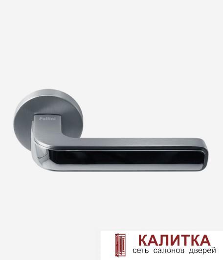 Ручка дверная Pallini на круглом основании Лондон PAL-Z12 SC/PC матовый хром/хром блестящий TD185873