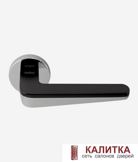 Ручка дверная Pallini на круглом основании Сидней PAL-Z08 PC/MatBlack полир.й хром/черный TD185871