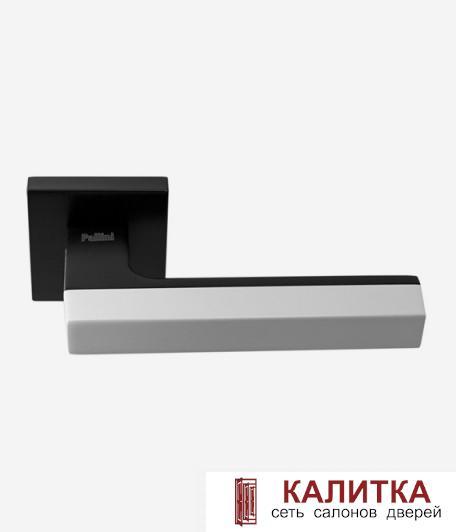 Ручка дверная Pallini на квадратном основании Дубай PAL-Z01-S MatBlack/White черный/белый TD185252