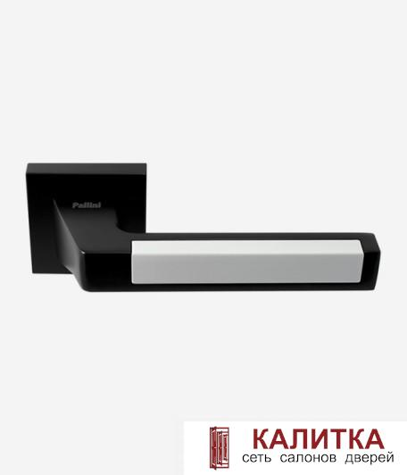 Ручка дверная Pallini на квадратном основании Лиссабон PAL-Z05-S MatBlack/White черн/белый TD185251