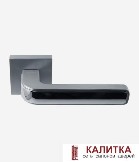 Ручка дверная Pallini на квадратном основании Лондон PAL-Z03-S SC/PC матовый хром/хр/блест TD 185238