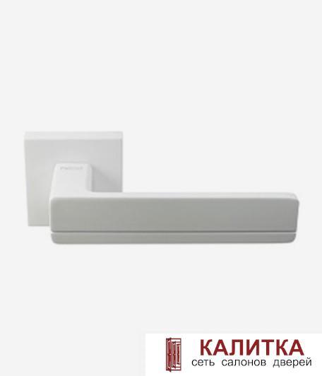 Ручка дверная Pallini на квадратном основании Мадрид PAL-Z06-S WHITE белый