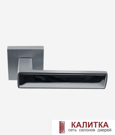 Ручка дверная Pallini на квадратном основании Нью-Йорк PAL-Z02-S SC/PC матовый хром/блестящий хром