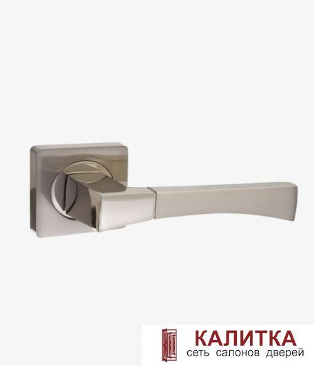 Ручка дверная  на квадр осн AL 532-02 SN/NP ( матовый никель/никель блестящий TD185226