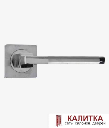 Ручка дверная  на квадратном основании AL 514-02 SC/CP хром матовый TD185203