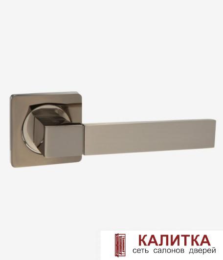 Ручка дверная  на квадратном основании AL 521-02 BN/SN графит/матовый никель TD185201