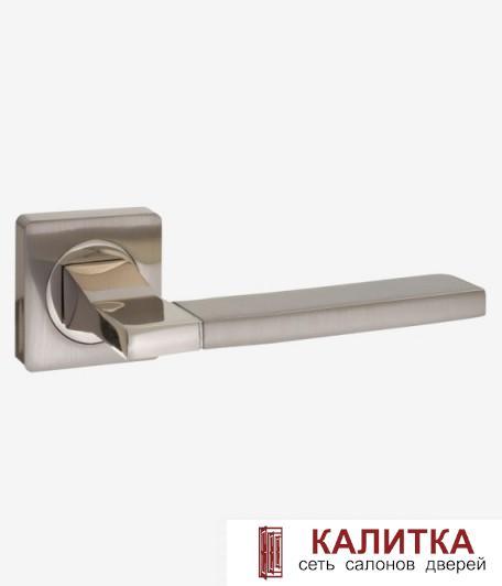 Ручка дверная  на квадратном основании AL 524-02 SN/NP матовый никель TD185222