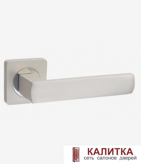 Ручка дверная  на квадратном основании AL 527-02 PW/СP жемчужный TD185223