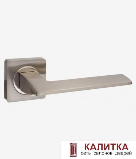 Ручка дверная  на квадратном основании AL 531-02 SN/NP матовый никель TD185225