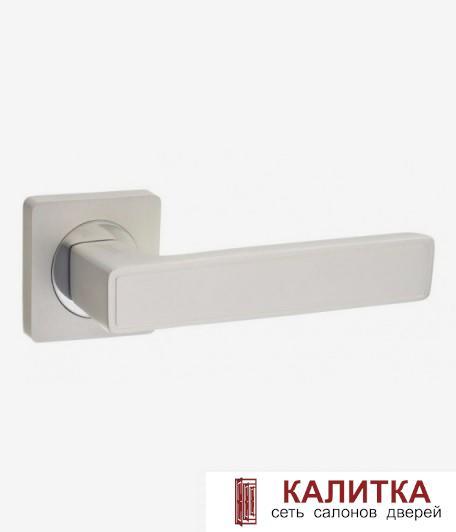 Ручка дверная  на квадратном основании AL 534-02 PW/СP жемчужный TD185209