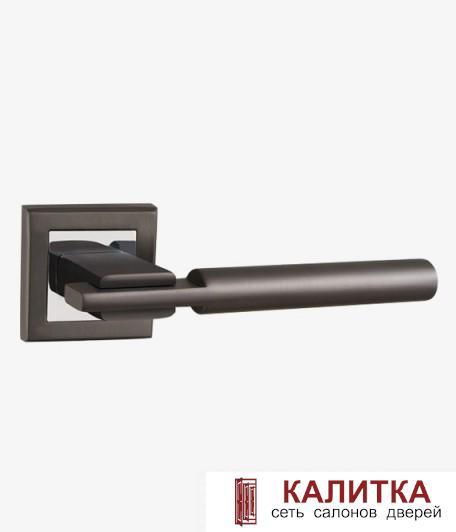 Ручка дверная PUNTO на квадратном основании CITY QL GR/CP-23 графит/хром TD185221