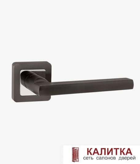 Ручка дверная PUNTO на квадратном основании PLUTON QR GR/CP-23 графит/хром