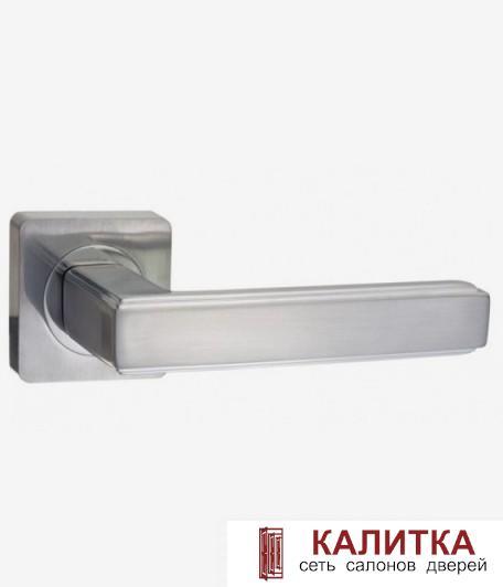 Ручка дверная RENZ на квадратном основании АРОНА DH 96-02 SN матовый никель TD185209