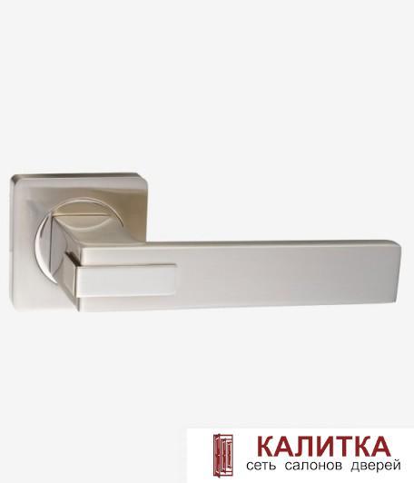 Ручка дверная RENZ на квадратном основании КАТАНИЯ DH 301-02 SN матовый никель