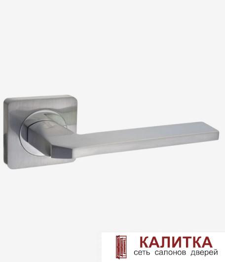 Ручка дверная RENZ на квадратном основании КЕРАСКО DH 97-02 SN матовый никель TD185210
