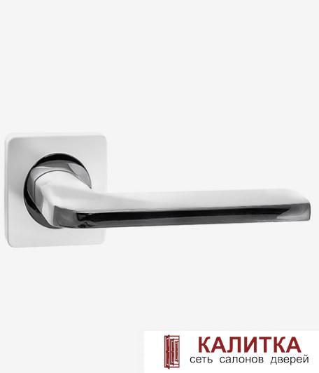 Ручка дверная RENZ на квадратном основании КЕРАСКО DH 97-02 SW/CP супер белый/хром TD185210