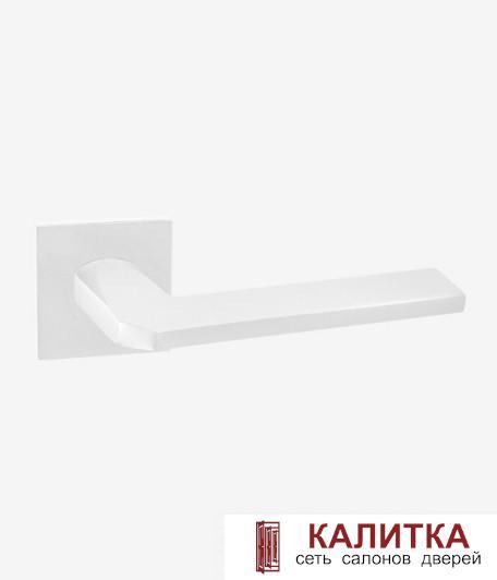 Ручка дверная RENZ на квадратном основании КЕРАСКО DH 97-03 SW супер белый TD185210