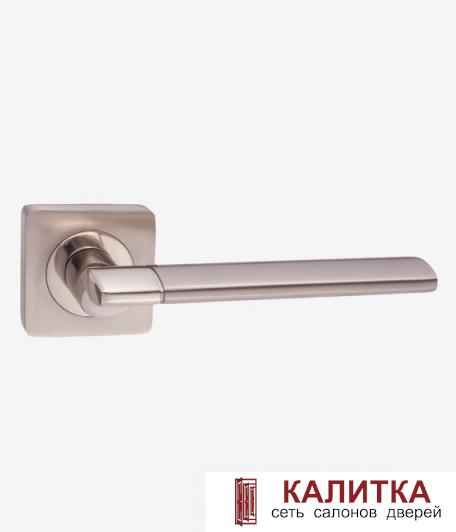Ручка дверная RENZ на квадратном основании МАРЧЕЛЛО DH 57-02 SC/CP хром блестящий/хром матовый