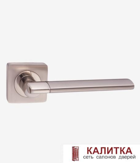 Ручка дверная RENZ на квадратном основании МАРЧЕЛЛО DH 57-02 SN/NP матовый никель TD 185220