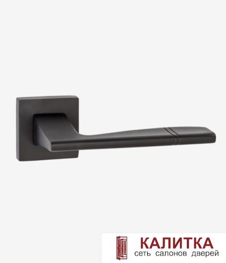 Ручка дверная RENZ на квадратном основании РИВОЛИ DH 72-03 B черный TD185206