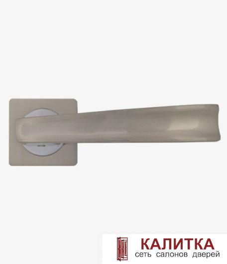 Ручка дверная  на квадратном основании AL-02-203 SN (никель)