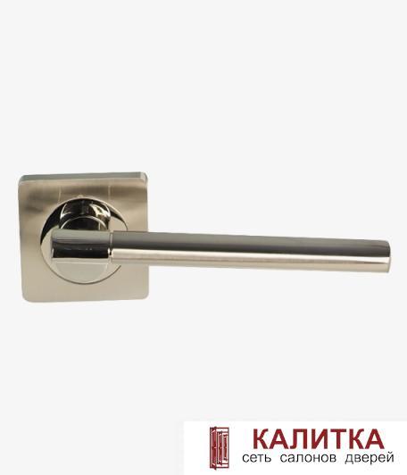 Ручка дверная  на квадратном основании AL-02-572 (CP+SN)/CP (хром+никель/хром) TD185220