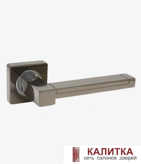Ручка дверная  на квадратном основании AL-02-873 BN/CP (черный никель/хром) TD185224