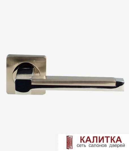 Ручка дверная  на квадратном основании AL-02-873 (CP+SN)/CP (хром+никель/хром) TD185224
