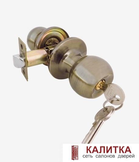Ручка-кноб ASSOL/MIX ЗШ-01 ключ-фиксатор бронза